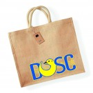 Diss Otters Large Jute Shopper Bag