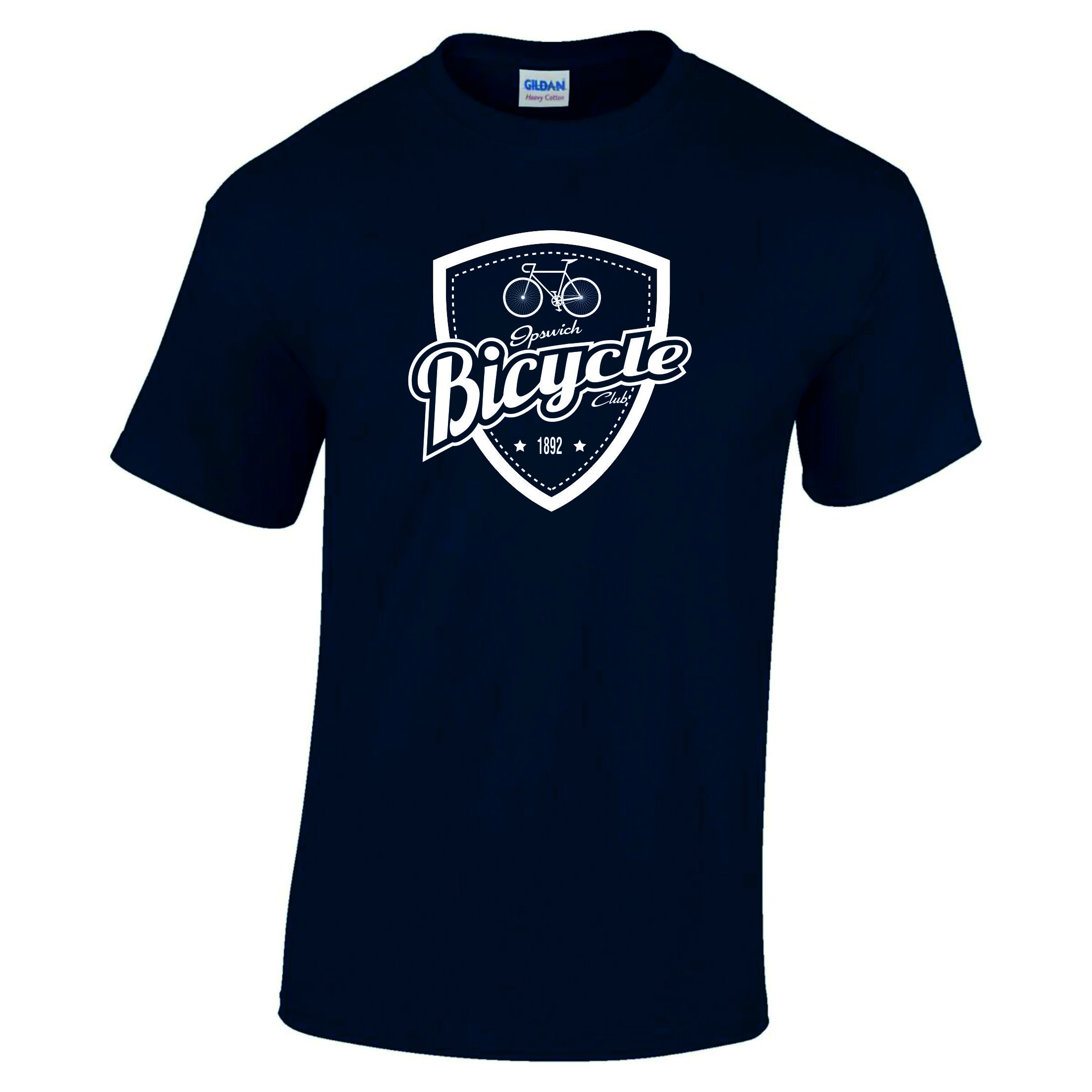 Ipswich Bicycle Club Junior Crew Neck Tee with Shield Print