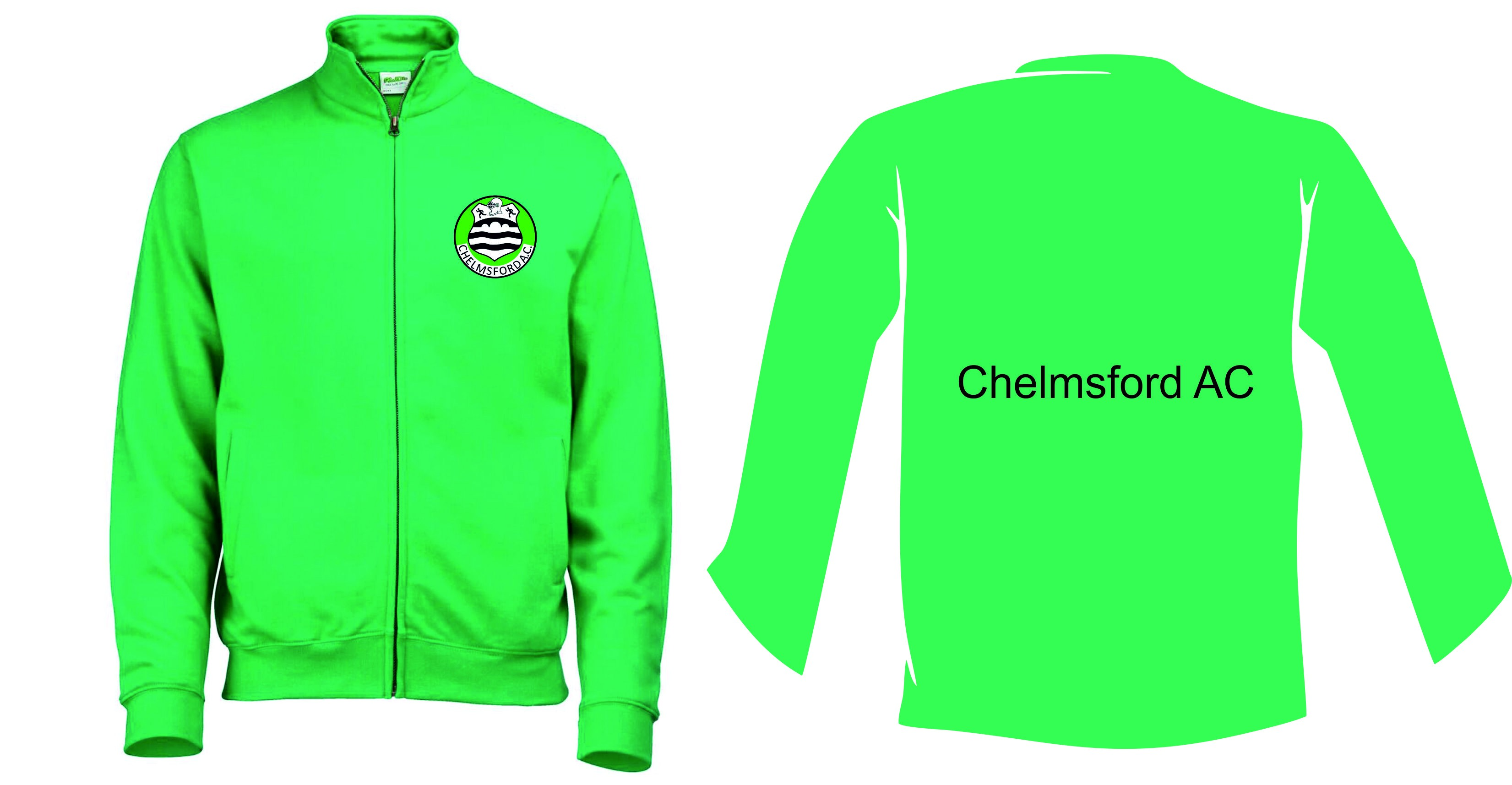 Chelmsford Athletics Club Men's / Unisex Adults Zip Up Sweatshirt Jacket