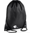 CATS Black Drawstring Bag