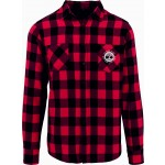 Twisted Oaks Unisex Adult Black & Red Checked Flanel Shirt